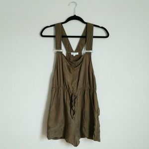 Honey Punch Olive Green Overall Romper